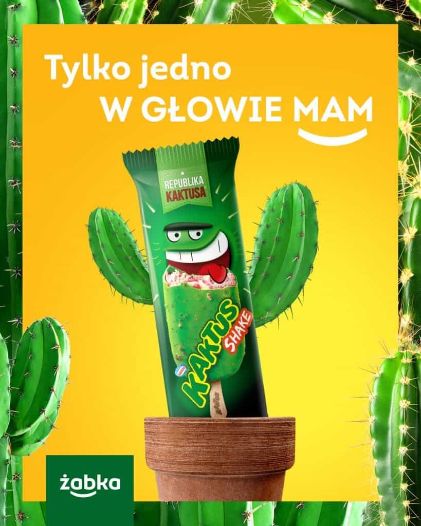 RTM Żabka - reklama lodów kaktus, nawiązująca do utworu